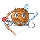 Mercure de planète de cupidon au-dessus de la bande dessinée de ciel illustration stock