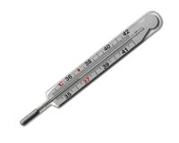 MERCURIAL THERMOMETER (36,6) ISOLATED Royalty Free Stock Images