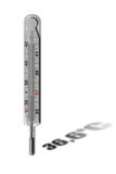 Mercurial thermometer Stock Foto's
