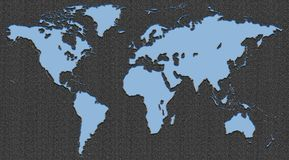 Mercurio v2 della mappa di mondo fotografie stock