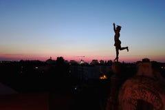 Mercury über Timisoara, Rumänien lizenzfreie stockfotos