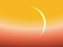 Mercury against Sun. Surreal Illustration of Mercury against the Sun Royalty Free Stock Photo