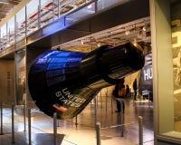 Mercury Capsule Replica en el museo intrépido, NYC Foto de archivo libre de regalías