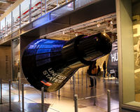 Mercury Capsule Replica at Intrepid Museum, NYC. Royalty Free Stock Photo