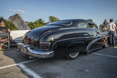 1950 Mercury Custom. Every Wednesday during the months of May to August there is a veteran car meeting with American cars at the fish market in Halden, Norway royalty free stock photos