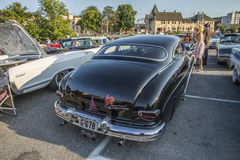 1950 Mercury Custom. Every Wednesday during the months of May to August there is a veteran car meeting with American cars at the fish market in Halden, Norway stock image