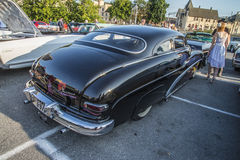 1950 Mercury Custom. Every Wednesday during the months of May to August there is a veteran car meeting with American cars at the fish market in Halden, Norway stock photos