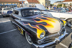 1950 Mercury Custom. Every Wednesday during the months of May to August there is a veteran car meeting with American cars at the fish market in Halden, Norway stock photo