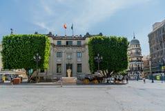 Mercury fontanny rzeźba Seville Hiszpania obrazy stock