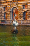 Mercury fountain, Alcazar Royal in Seville, Andalusia, Spain royalty free stock image