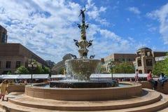 Mercury Fountain Reston Town Center Northern Virginia VA Stock Image