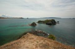 Mercury Islands from Opito Bay in Coromandel, New Zealand Stock Photo