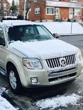 2010 Mercury Mariner. Snowy winter Morning Royalty Free Stock Photography