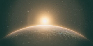 Mercury med soluppgång Fotografering för Bildbyråer