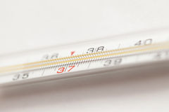 Mercury medical thermometer Stock Images