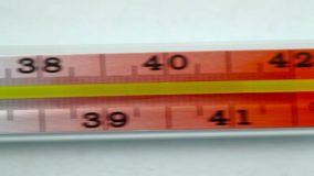 Mercury Medical Thermometer Macro stock videobeelden