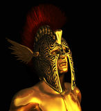 Mercury Messenger of the Gods. A portrait of Mercury, the messenger of the Gods, also the God of commerce, invention and cunning - 3D render Stock Image