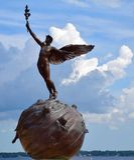 Mercury mit blauem Himmel Stockfotos