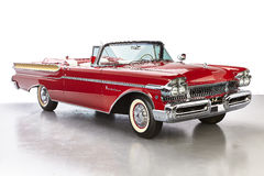 1957 Mercury Montclair Convertible. Red and chrome and full of fins, by 1959 fins on cars had hit their peek, these are on their way. this car was once owned Stock Photography