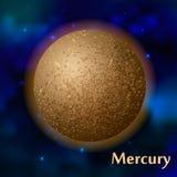 Mercury-planeet vectorillustratie Stock Fotografie