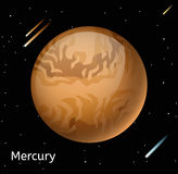 Mercury planet 3d vector illustration Stock Image