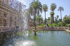 Mercury Pond of Alcazar Royalty Free Stock Photo