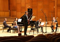 The Mercury Quartet in concert at George Enescu Festival Royalty Free Stock Photos