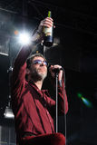 Mercury Rev band performs at Dia de la Musica Festival. Royalty Free Stock Images