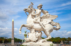 Mercury riding Pegasus sculpture, Paris, France Stock Photography