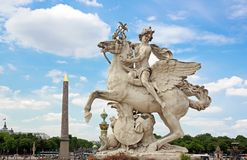 Mercury riding Pegasus, the Tuileries (Paris France) Royalty Free Stock Images
