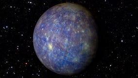 Mercury Rotating em uma estrela Backgrund Loopable filme