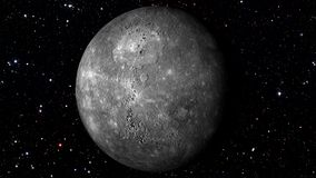 Mercury Rotating en una estrella Backgrund Loopable libre illustration