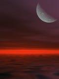 Mercury setting over ocean Royalty Free Stock Photo