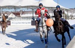 Mercury snow polo cup Stock Photo