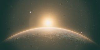 Mercury with sunrise stock image