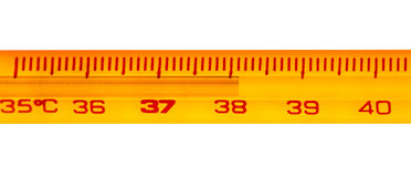 Mercury-thermometer Royalty-vrije Stock Foto's