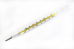 Mercury thermometer Royalty Free Stock Photo