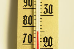 Mercury thermometer Royalty Free Stock Images