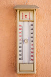 Mercury thermometer outdoors Royalty Free Stock Image