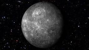 Mercury Wiruje na Gwiazdowym Backgrund Loopable royalty ilustracja