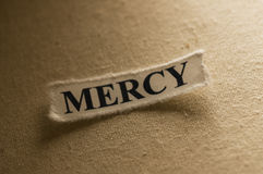 Mercy. Picture of a word mercy Stock Photography