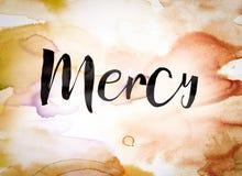 Mercy Concept Watercolor Theme Stock Image