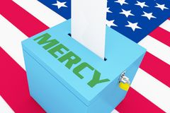 MERCY - humanitarian concept stock illustration