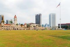 Merdeka fyrkant, Kuala Lumpur, Malaysia royaltyfria bilder