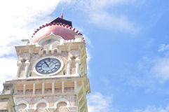 Merdeka Square. Clock tower Merdeka Square tourist attractions in Central Kuala Lumper, capital of Malaysia Stock Image
