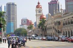 One way street in Kuala Lumpur Royalty Free Stock Photography