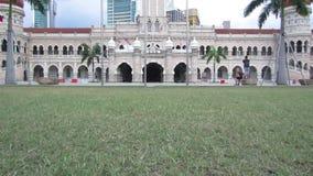 Merdeka Square, Kuala Lumpur, Malaysia - circa January 2017 stock footage
