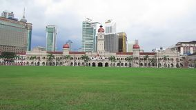 Merdeka Square, Kuala Lumpur, Malaysia - circa January 2017 stock video footage