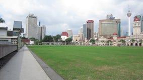 Merdeka Square, Kuala Lumpur, Malaysia - circa January 2017 stock video