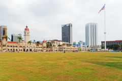 Merdeka Square, Kuala Lumpur, Malaysia. Merdeka Square (Dataran Merdeka) is located in Kuala Lumpur, Malaysia. It is surrounded by many building of historical royalty free stock images
